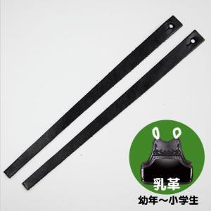 剣道 胴どう胸用 平乳革 2本1組  (ゆうパケットOK)