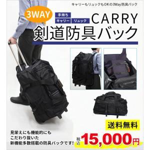 キャリーもリュックもOKの4Way防具袋 見栄えにも機能的にもこだわり抜いた、新機能多数搭載の防具バ...
