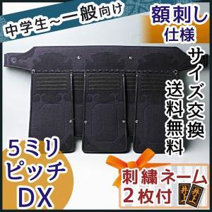 剣道防具 垂れ●5ミリジャストフィットピッチ刺しDX[Tb]|kendouya