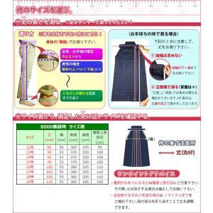 剣道 袴●正藍染8000番綿袴(ひだが取れにくい、洗濯や練習後の整え簡単、内ヒダ縫製加工)|kendouya|02