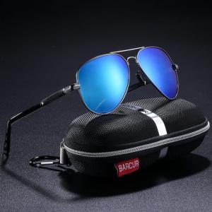 BARCUR メンズ サングラス 偏光 パイロット Blue  男性用アクセサリー 釣り ハイキング アイウェア Oculos ブルー|kenji1980-store