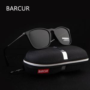 BARCUR サングラス Black Polarized 偏光 コーティング ミラー クラシック 夏のファッション ユニセックス ブランドデザイナー ブラック|kenji1980-store