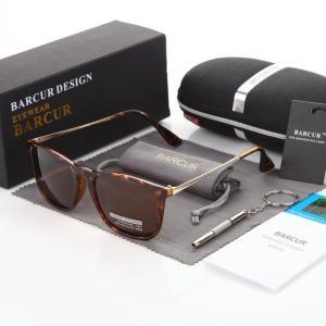 BARCUR サングラス Tea Polarized 偏光 コーティング ミラー クラシック 夏のファッション ユニセックス ブランドデザイナー 紅茶ブラウン|kenji1980-store