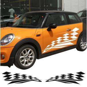 ミニクーパー ドアサイド デカール ステッカー 2ドアモデル R50 R52 R53 R56 R57 R58 R59|kenji1980-store