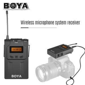 ワイヤレスマイク システム受信機 BOYA BY-WM8R UHF Dual-Anrenna ENG EFP Canon Nikon Sony DSLRカメラ用 ビデオカメラ用 48チャンネル|kenji1980-store