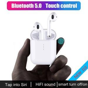 i10 TWSブルートゥースイヤホン ワイヤレスイヤホン タッチコントロールイヤホン 3Dサラウンドサウンド&すべてのスマートフォン用充電ケース|kenji1980-store