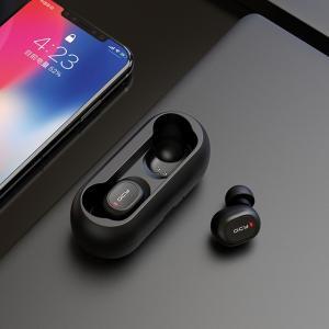 デュアルマイク付きQCY QS1 TWS 5.0 3D ステレオ ワイヤレス Bluetooth ヘッドセット イヤホン|kenji1980-store