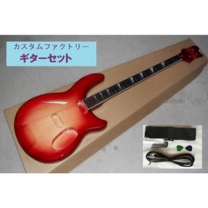 カスタムファクトリー エレキギター キット 4弦 レッド エレクトリックベース部品 ホワイトコネクティングネック  DIYベースギター 楽器|kenji1980-store