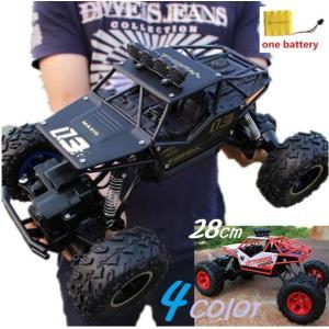 28センチ RC ラジコン 1/16 4WD オフロード 2.4GHz デュアルドライブ リモートコントロールカー ダブルエンジン