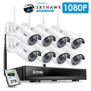 Zosi 8ch 2TB ワイヤレス1080 p hd cctvシステムnvr 8ピース2.0 mp p2 p ir屋外防水防犯カメラシステムWi-fi監視キット|kenji1980-store