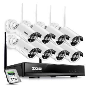 ZOSI 8CH 1TB 1080PワイヤレスCCTVシステムNVR 8PCS P2P 1.3MP IR屋外Wi-Fi IP CCTVセキュリティカメラシステムビデオ監視キット|kenji1980-store