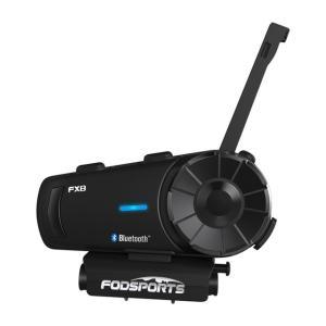 バイク インカム オートバイ Fodsports FX8 ヘルメット Bluetooth インターホン モト ヘルメット ヘッドセット 1000m 8 ライダー BT FM|kenji1980-store