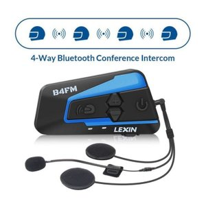 LX-B4FM バイク用 インカム Lexin 4 ライダーズ Bluetooth ヘルメット ヘッドセット BT moto インターコム FM ラジオ|kenji1980-store