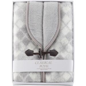 30%割引 ジャカード織 衿付きアクリルベスト (WAB-502GY) (グレー)  (快気内祝 結婚内祝 法要 お返し ギフト)|kenjya-gift