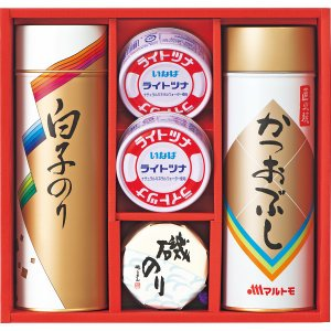 15%割引 のり茶漬・かつおぶし・瓶詰・缶詰セット (SIT-25)  (快気内祝 出産内祝 結婚内祝 香典返し 法要 お返し ギフト)|kenjya-gift
