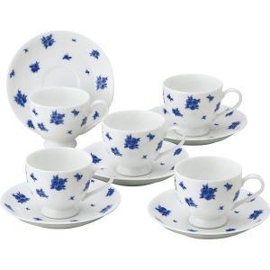 30%OFF プリンセスローザ コーヒー碗皿5客セット(出産内祝 内祝 お返し 結婚内祝 新築内祝)(28333)|kenjya-gift