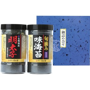 30%割引 有明産 明太子風味・熊本有明海産 味海苔セット (YMI-10)|kenjya-gift