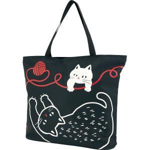 人気ギフト 和のマルチトートバッグ(猫と毛糸玉)(21804710)|kenjya-gift