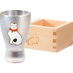 人気ギフト アデリア ねこぐらす 枡酒グラス(ねこ)(6615)