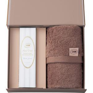 新商品 プレゼントにおすすめ SABON ハンドクリーム50ml(デリケート・ジャスミン)&オーガニックタオル (SAB-21)|kenjya-gift