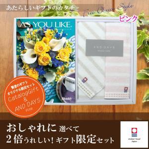 当店おすすめ限定商品 カタログギフト3,564円コース+今治タオル シフィール フェイスタオル・ウォッシュタオルセット|kenjya-gift