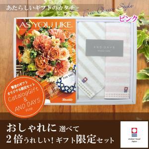 当店おすすめ限定商品 カタログギフト4,644円コース+今治タオル シフィール フェイスタオル・ウォッシュタオルセット|kenjya-gift