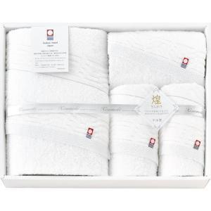 送料無料 5%OFF おすすめ人気ギフト 今治製タオル きらめき タオルセット(IMT52500WH) (快気祝 出産内祝 結婚内祝 香典返し)|kenjya-gift