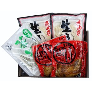 【全国送料無料】さぬきづくし 香川県名産品生うどん&骨付鶏詰合せセット(F7-7) ※冷蔵便にてお届け|kenjya-gift