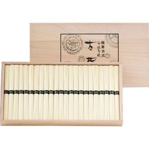 全国送料無料 人気ギフト 極寒古式島原手延素麺(木箱入)(LNX-40J) (ギフト対応無料)|kenjya-gift