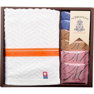 コロンバン&今治製タオルギフト(COL-15)(出産内祝い 快気祝い 婚礼内祝い 香典返し 新築内祝い ギフト)|kenjya-gift