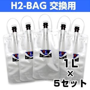 H2-BAG 交換用 水素水用真空保存容器 1L 5個セット|kenkami