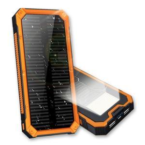 ソーラーチャージャー pse認証済み SOS救急信号灯搭載 太陽光充電器 モバイルバッテリー キャンプ/ 地震 /災害時にも必携スマホ/タブレット/ゲーム等対応 spddm|kenkenanto
