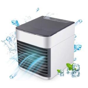 冷風機 風量3段階 ミニクーラー 空気清浄機能 扇風機 usb 加湿機能/冷却機能/7色LED 角度調整可能 コンパクト 省エネ 暑さ・熱中症対策 ペット・自宅用|kenkenanto