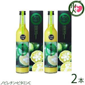 大宜味村産 青切シークヮーサー 100%ジュース 500ml×1本×2箱 沖縄 国産 フルーツ 人気...