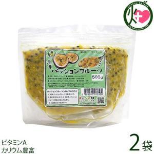 冷凍 沖縄県産 パッションフルーツ 原液 500g×2袋 非加熱 条件付き送料無料