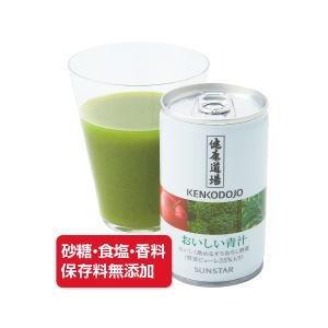 健康道場 おいしい青汁 160g×30本 (スチール缶) / サンスター