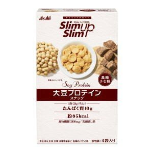 スリムアップスリム 大豆プロテインスナック(黒糖きな粉)96g(24g × 4袋)