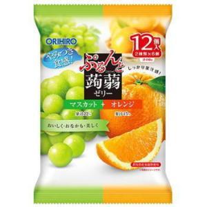 ぷるんと蒟蒻 マスカット+オレンジ 12個入|kenko-depart