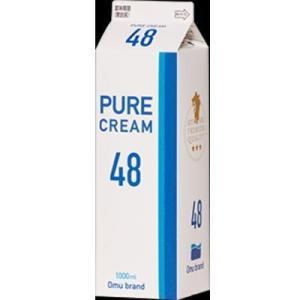 冷蔵発送 オーム乳業       ピュアクリーム 48  1L|kenko-depart