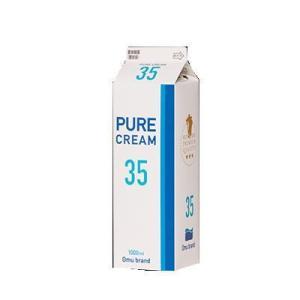 冷蔵発送 オーム乳業 ピュアクリーム 35 1L|kenko-departs