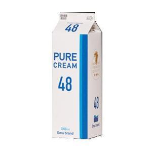 冷蔵発送 オーム乳業 ピュアクリーム 48 1L|kenko-departs