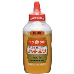 加藤美蜂園 サクラ印 純粋ハチミツ 1kg|kenko-departs
