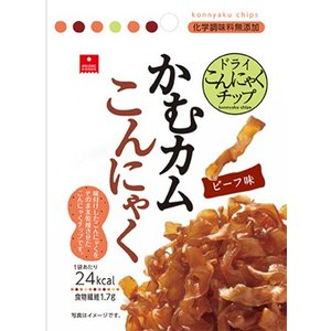 アスザックフーズ かむカムこんにゃくビーフ味 10g (ゆうパケット配送対象)|kenko-ex
