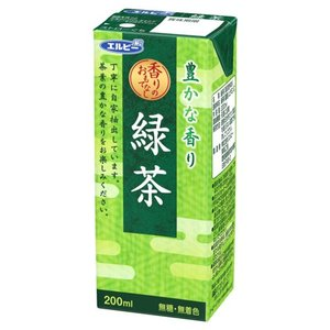 エルビー緑茶 (紙パック 200ml x 30本入り)