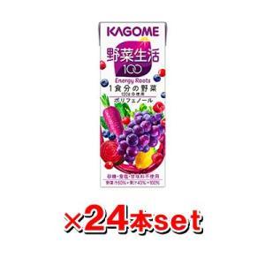 カゴメ 野菜生活100 エナジールーツ 200ml×24本(1ケース)