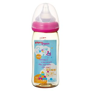 ピジョン 母乳実感 哺乳びん プラスチック 240ml トイボックス柄[ピジョン 母乳実感 哺乳瓶]