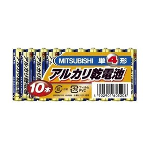 三菱 アルカリ乾電池Nタイプ 単4形 10本パックの関連商品10
