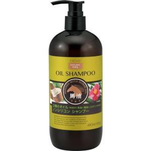 熊野油脂 ディブ 3種のオイル シャンプー 馬油・椿油・ココナッツオイル 本体 480mL Deve...