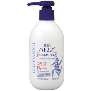 熊野油脂 麗白 ハトムギUVミルキージェル 250mL