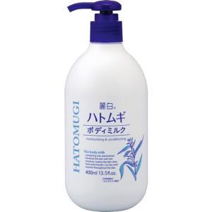 [熊野油脂]麗白 ハトムギボディミルク 400ml(麗白)|kenko-ex